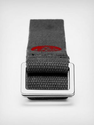 Manduka 8 foot align yoga strap rolled up
