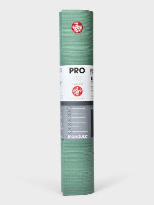 Manduka Prolite Green Ash Colorfield mat available at Yoga Fish
