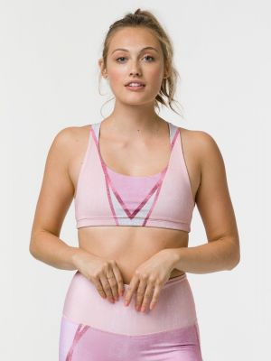 Onzie Graphic Mudra Bra - Rose Gold - 1