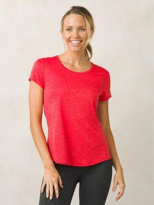 PrAna Revere Short Sleeve T-Shirt - Carmine Pink 1