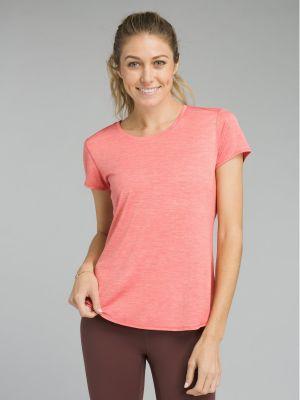 PrAna Revere Short Sleeve T-Shirt - Rhubarb - Yoga Fish - Front