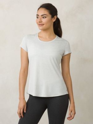 PrAna Revere Short Sleave T-Shirt - Silver - 1
